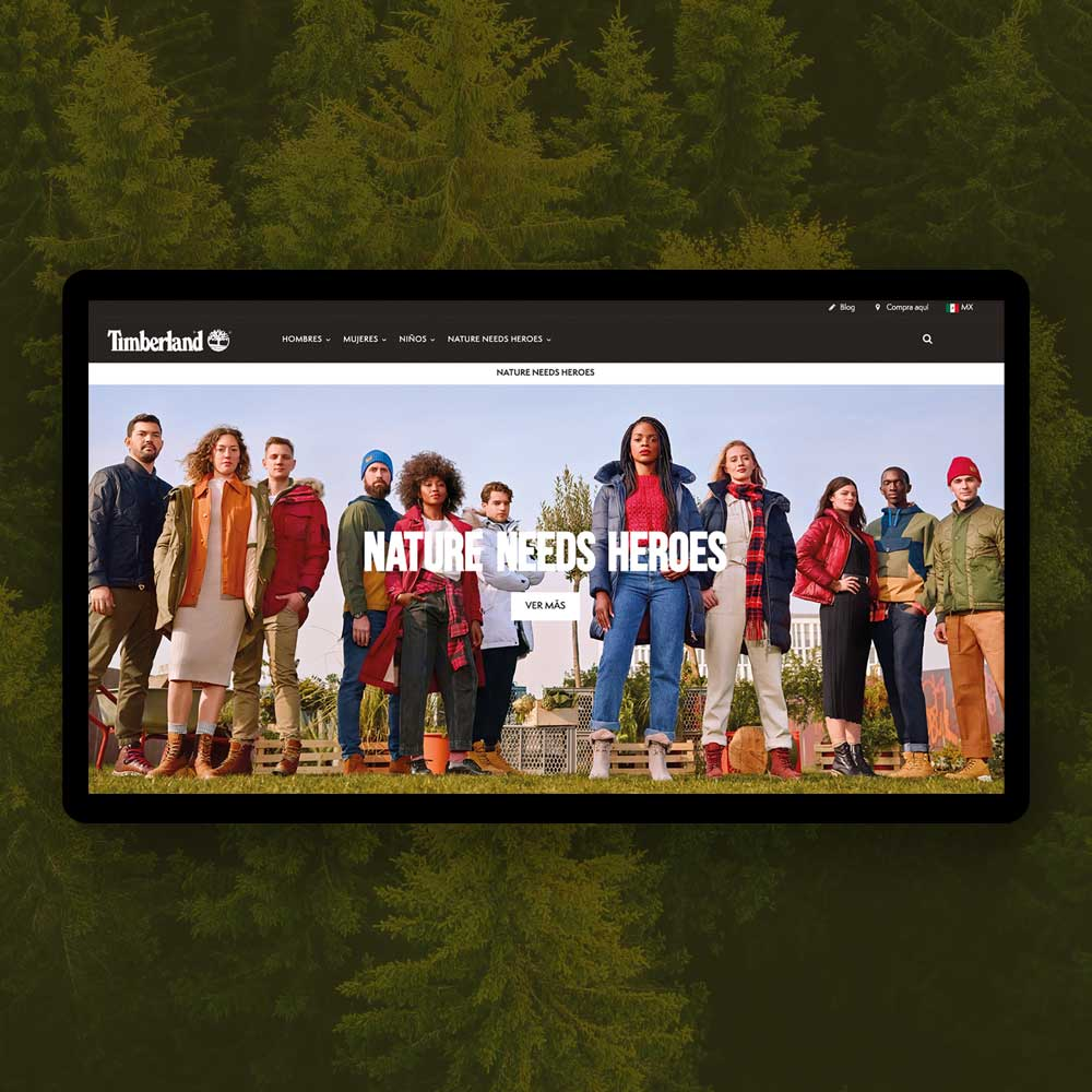 Sitio Web Timberland